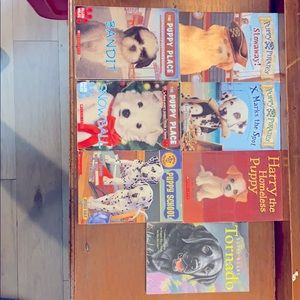 Lot of puppy books.